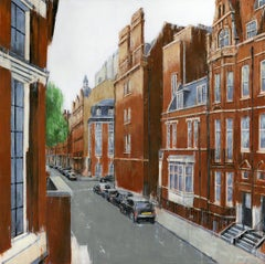 A Balcony in Chelsea - Interior cityscape painting Contemporary Art