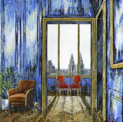South Kensington - original cityscape interior painting Contemporary Art