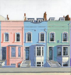 Bywater Street Chelsea - pastel cityscape original painting Contemporary Art