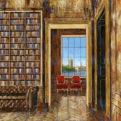 Empowerment London original cityscape oil painting contemporary art 21st C