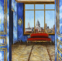 Face to St Paul's London - cityscape interior classical painting contemporary