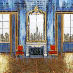 Finery NYC -original city LANDSCAPE interior oil painting contemporary art 2st C