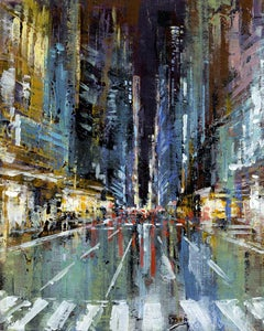 Manhattan 2 - NYC original City Landscape cityscape painting - Contemporary Art