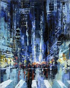 Manhattan 3 - NYC original City Landscape cityscape painting - Contemporary Art