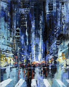 Manhattan 3 - NYC original NYCLandscape cityscape painting - Contemporary Art