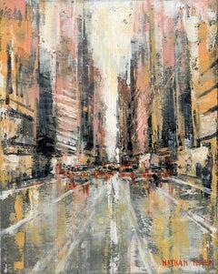 Manhattan 4 - original NYC Cityscape cityscape painting Contemporary Art 21st c