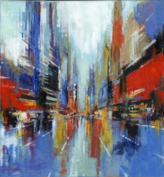 New Amsterdam - original City Landscape cityscape painting Contemporary Art