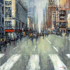 New York City original Landscape interior painting - Contemporary Art