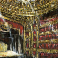 Paris Opera - Interior Oil Painting theatre Contemporary Art 21st C modern