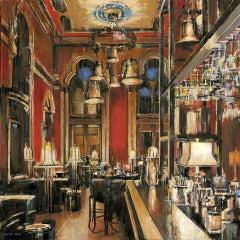 Gilbert Scott Resto - original interior painting contemporary art 21st Century