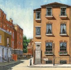Upper Cheyne Row Chelsea Interior cityscape original painting Contemporary Art
