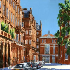 Victorian Houses Chelsea - Interior London cityscape painting Contemporary Art