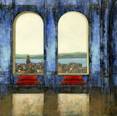 View for Two - Italy Interior cityscape oil painting Contemporary Modern