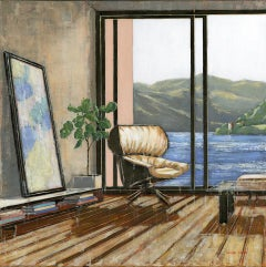 View Over Loch Ness - Original Cityscape Interior Oil Painting Contemporary Art