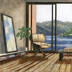 View Over Loch Ness - Original Landscape Interior Oil Painting Contemporary Art