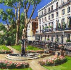 Wellington Square Chelsea -  City London landscape painting contemporary 21st