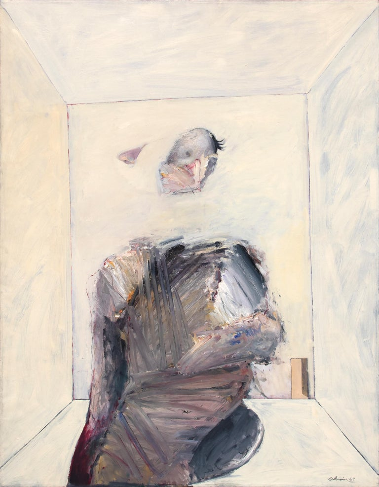 Nathan Oliveira Figurative Painting - Seated Man in Room