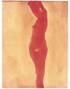 Copper Plate Nude II (2) 2001. Aquatint - signed, dated front - Nathan Oliveira