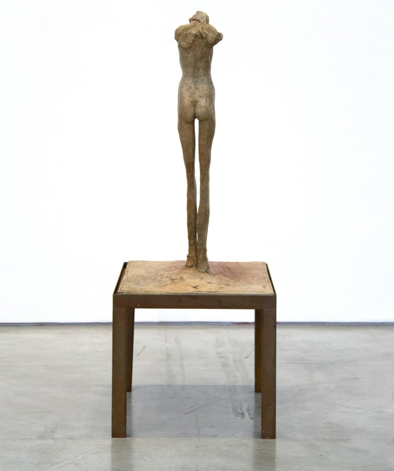 Figure #4 - Gold Nude Sculpture by Nathan Oliveira