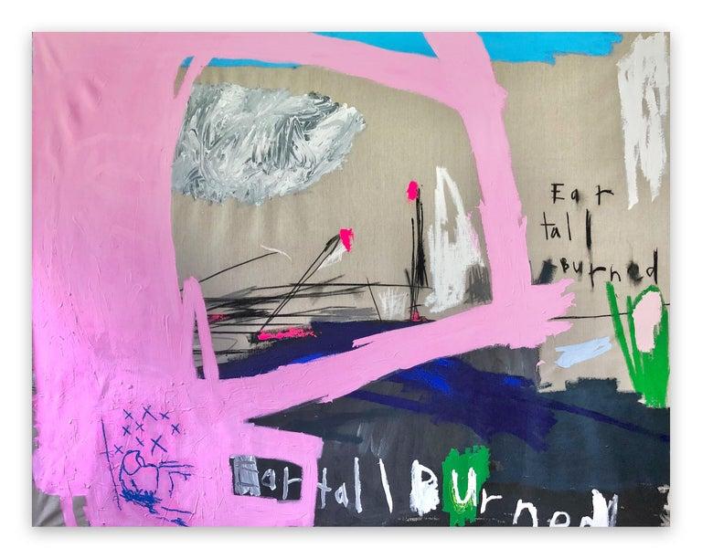 Nathan Paddison Abstract Painting - EarTallBurned (Abstract painting)