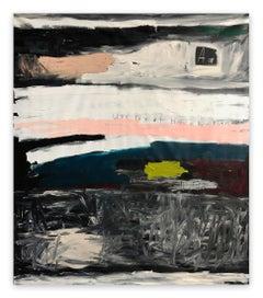 WeeDonutHalveArePlanBee (Abstract painting)