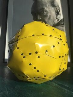 Yellow Copper Ball Sculpture
