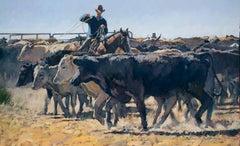 Four in a Row (cattle, livestock, cowboy, wrangler)