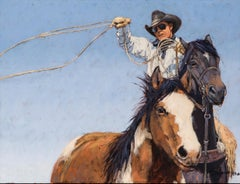 Shades of a Cowboy (portrait, cowboy, horses, blue sky)
