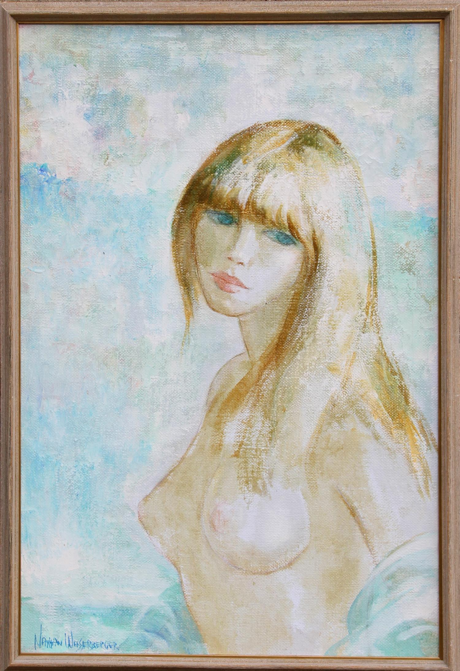 Blonde Nude, Oil Painting by Nathan Wasserberger