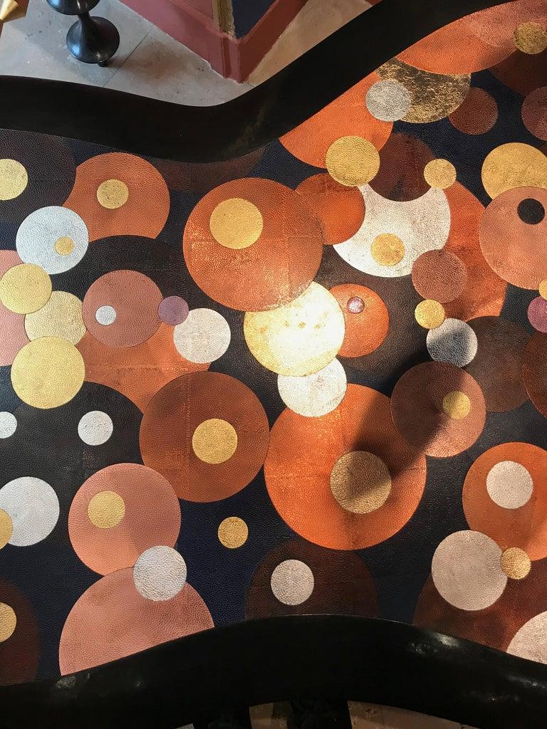 Nathanaël Le Berre 2019, Unique Hammerd Copper Table Al'inbïq For Sale 8