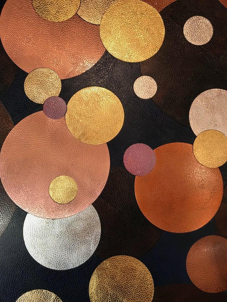 Nathanaël Le Berre 2019, Unique Hammerd Copper Table Al'inbïq For Sale 10