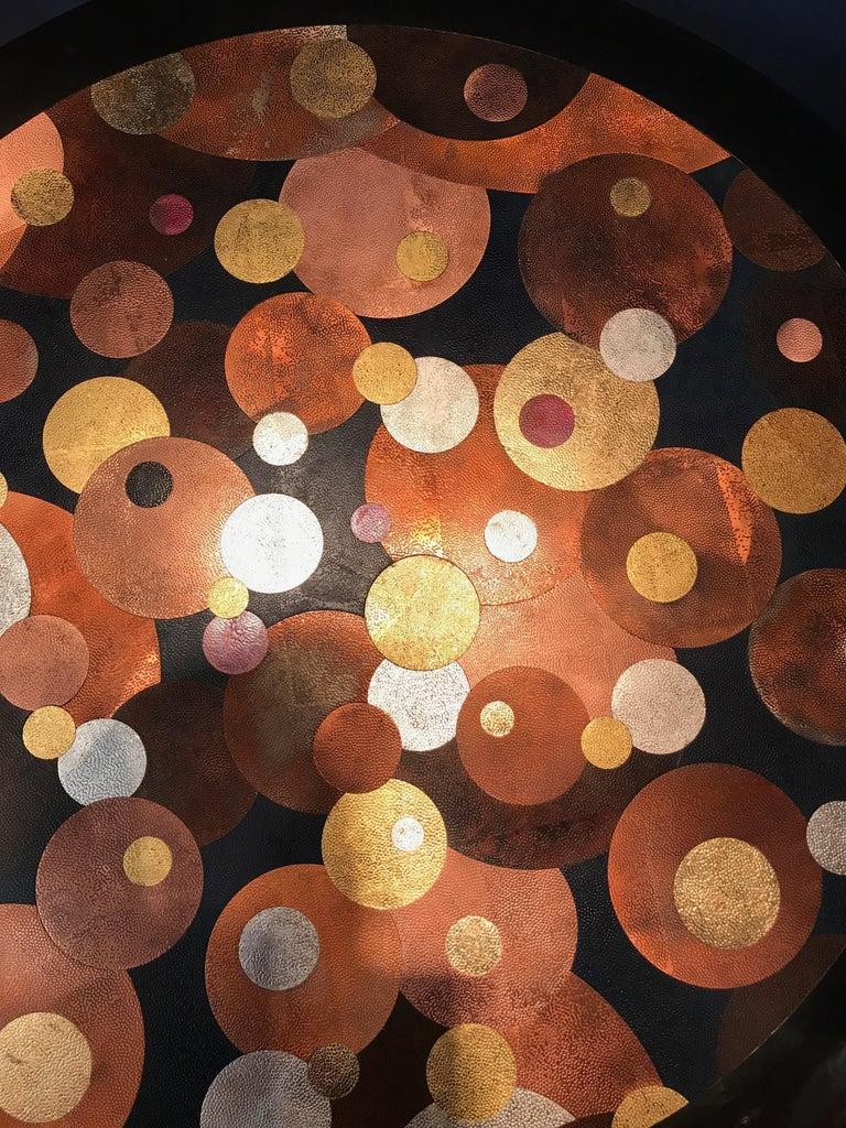 Nathanaël Le Berre 2019, Unique Hammerd Copper Table Al'inbïq For Sale 2