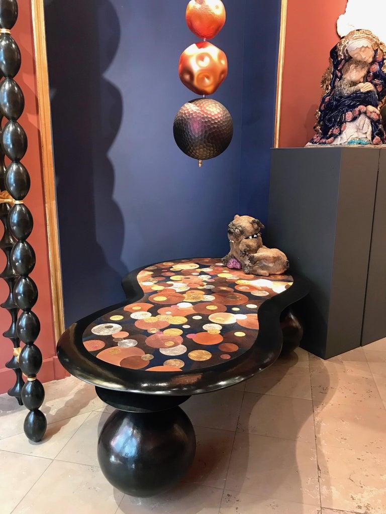 Nathanaël Le Berre 2019, Unique Hammerd Copper Table Al'inbïq For Sale 7