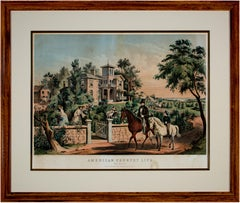 'May Morning' from 'American Country Life' lithograph, N. Currier and F. Palmer