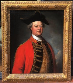 18th Century Oil Painting Portrait of a Military Officer