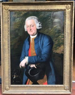 18th Century Oil Painting Portrait of Phillip, 6th Viscount Wenman.