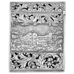 "Nathaniel Mills Silver Double-Sided ""Castle-Top"" Card Case"