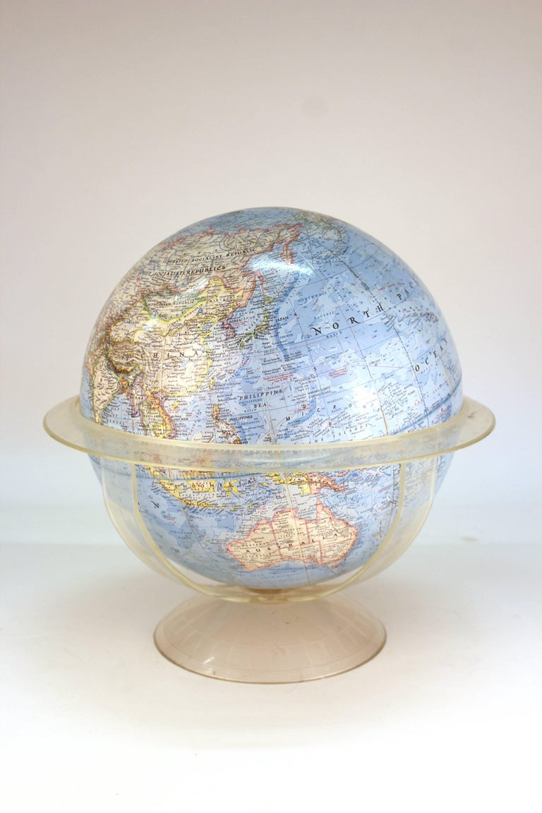 Mid-Century Modern National Geographic Midcentury Globe on Stand For Sale