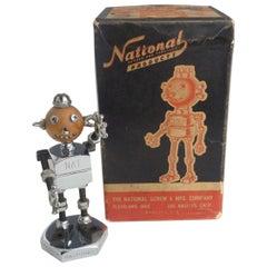 National Hardware Desk Top Advertising Logo Robot Sculpture