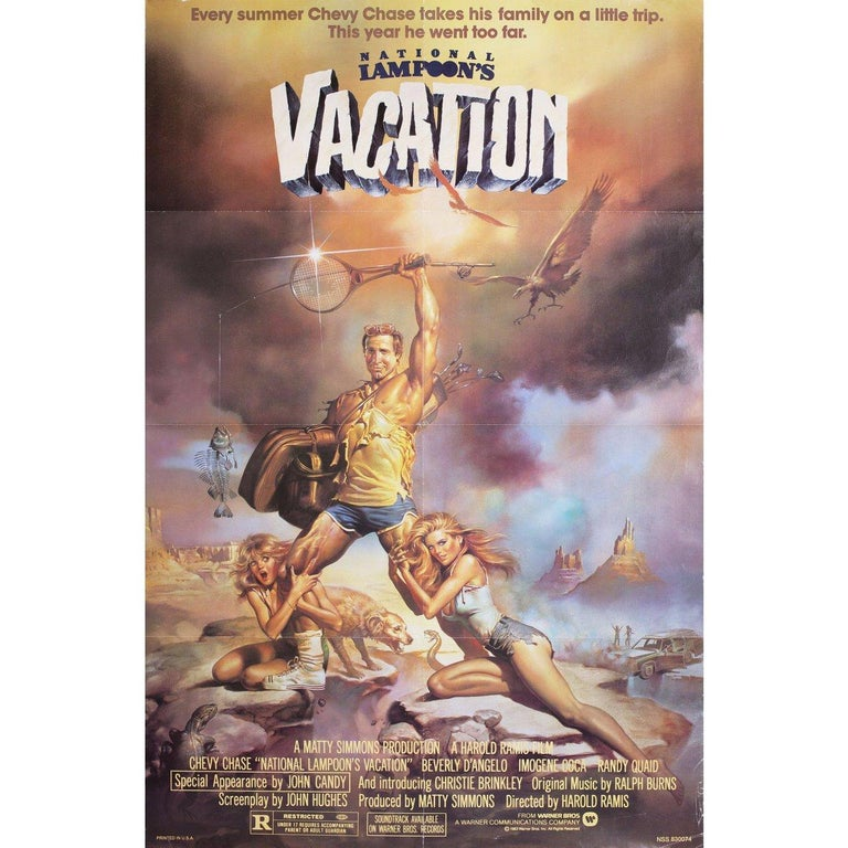 Original 1983 U.S. one sheet poster by Boris Vallejo for the film National Lampoon's Vacation directed by Harold Ramis with Chevy Chase / Beverly D'Angelo / Imogene Coca / Randy Quaid. Very good-fine condition, folded with edge wear. Many original