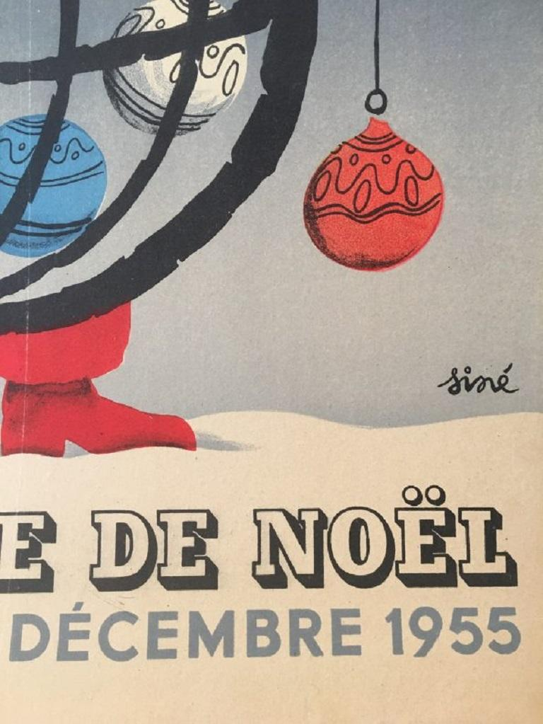 Paper National Lottery Slice of Christmas Original Vintage Poster For Sale