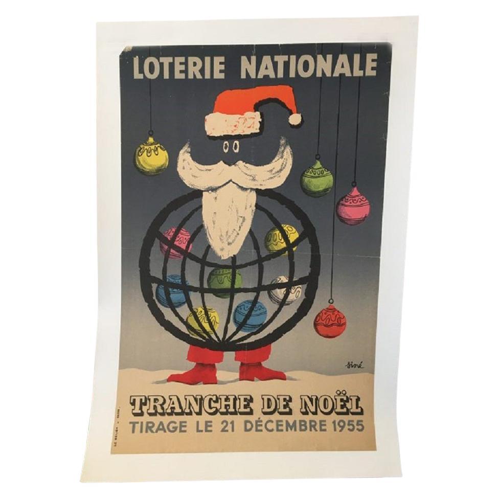 National Lottery Slice of Christmas Original Vintage Poster