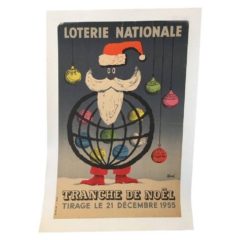 National Lottery Slice of Christmas Original Vintage Poster For Sale