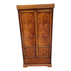 National Mount Airy Flame Walnut and Satinwood Inlaid Armoire