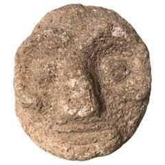 "Native America Ancient Hand Carved Stone Shaman's Mask ""Tsagagial"""