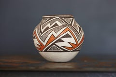 Native American Acoma Earthenware Polychromed Jar by J.G. Louis, circa 1970s