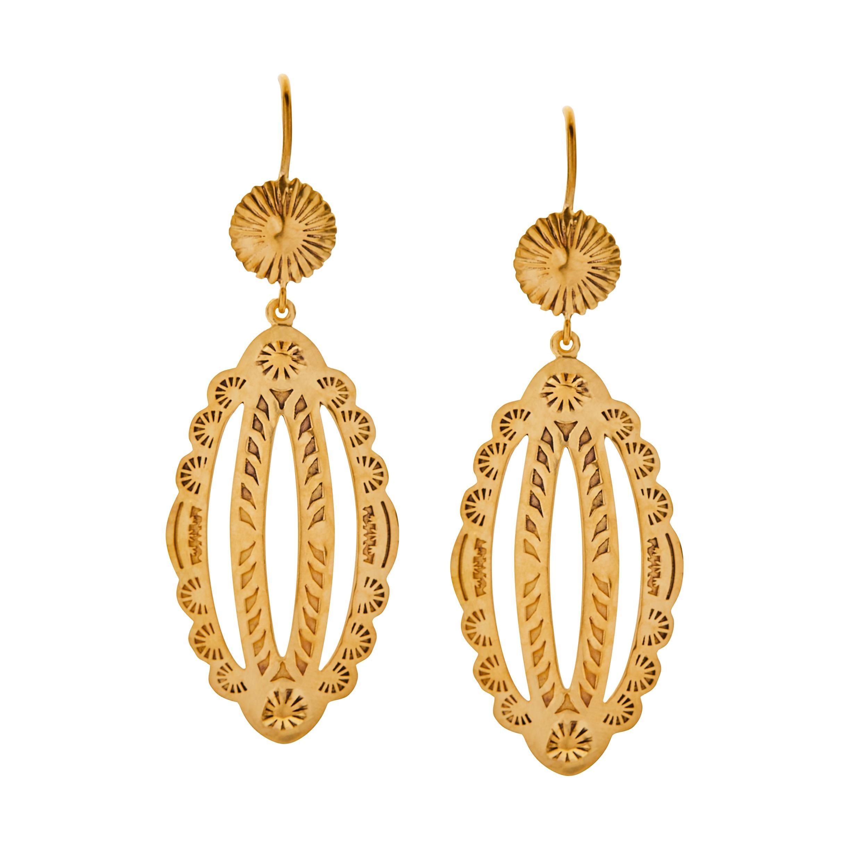 Drop Earrings 18 Karat Yellow Gold