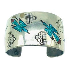 Native American Eagle, SD circa 1970, Turquoise Cuff