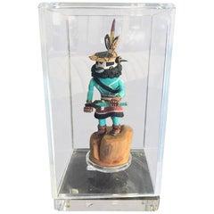 Native American Hopi Kachina Doll in Display Case