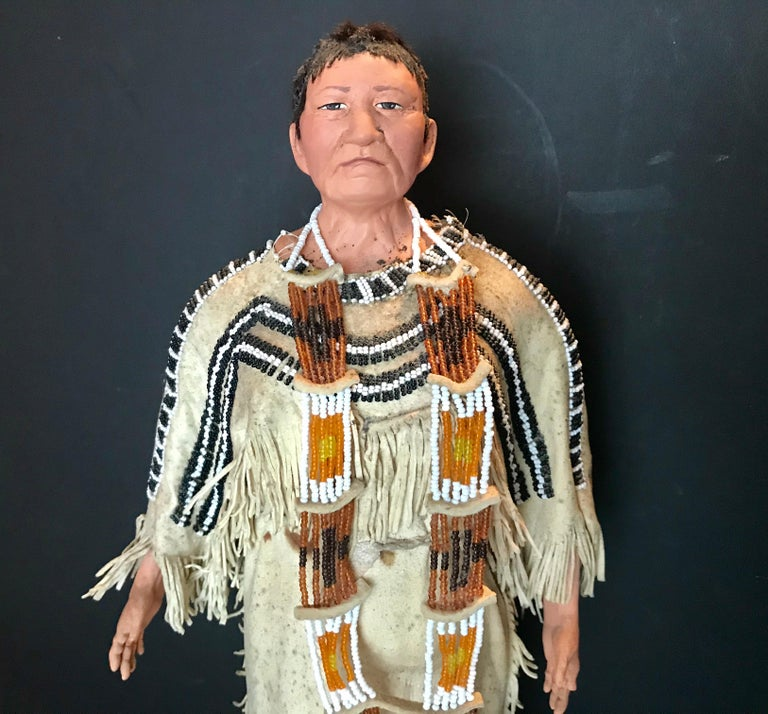 Native American Wedding Dresses: Native American Indian Doll With Traditional Lakota Sioux